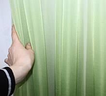 "Отрез (1,8х2,7м.) ткани, тюль растяжка ""Омбре"" из шифона. Цвет оливковый с белым. Код 750ту 00-572"