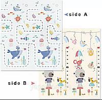 """Дитячий двосторонній ігровий килимок """"КИТ"""" 2м*1,8 м (товщина-1мм) (10)"""