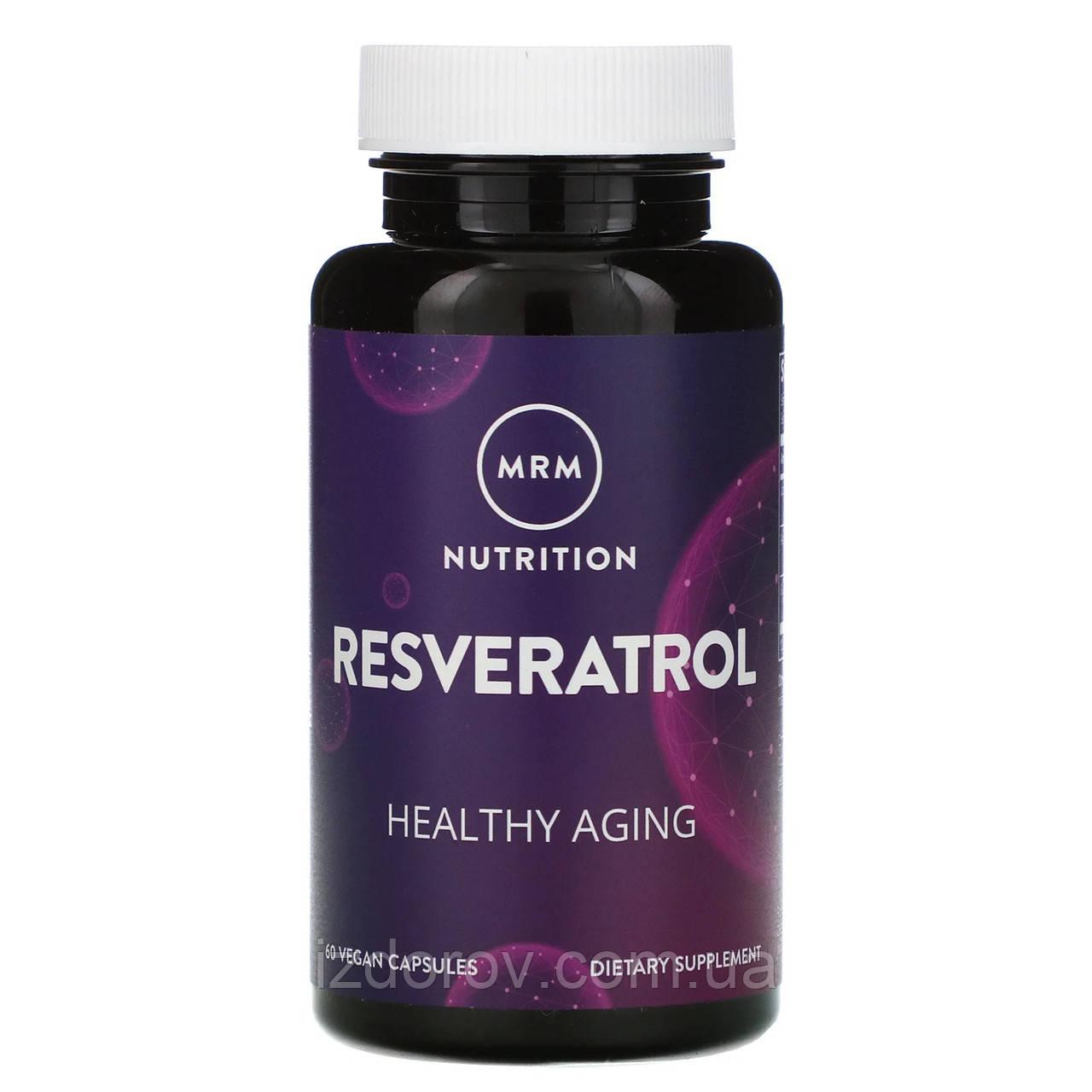 MRM Nutrition, Ресвератрол, Resveratrol, 60 капсул веганских