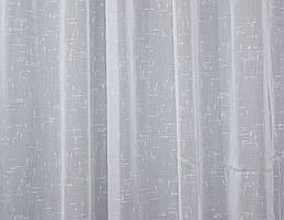 Отрез (3,8х2,7м.) ткани, тюль лён, цвет белый. Код 115ту 00-571
