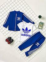 """Костюм спортивний дитячий """"Адидаас"""" Adidaas, двунить, 3-ка, від 80 до 116 см росту"""