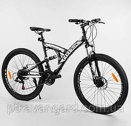 """Спортивный велосипед 26 дюймов Черный 21 скорость Corso Hyper рама металлическая 16"""" собран на 75%"""