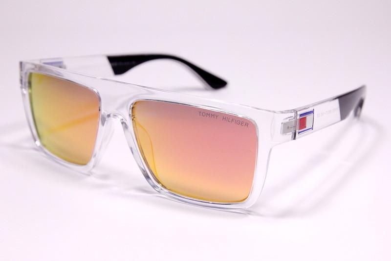 Мужские солнцезащитные квадратные очки Том Форд P1605 C4 реплика с поляризацией