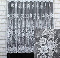 "Отрез (2,65х1,5м) ткани. Тюль жаккард, ""Jak-Od"". Цвет белый. Код 726ту 00-570"