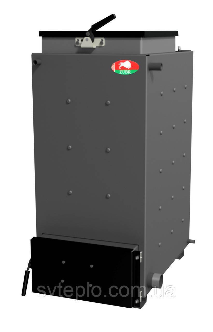 Твердопаливний котел шахтного типу Zubr (Зубр) 10 кВт. Сталь 5 мм