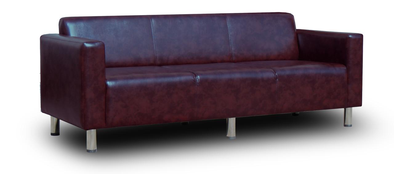 Диван офісний Кристал Потрійний 210см з підлокітниками