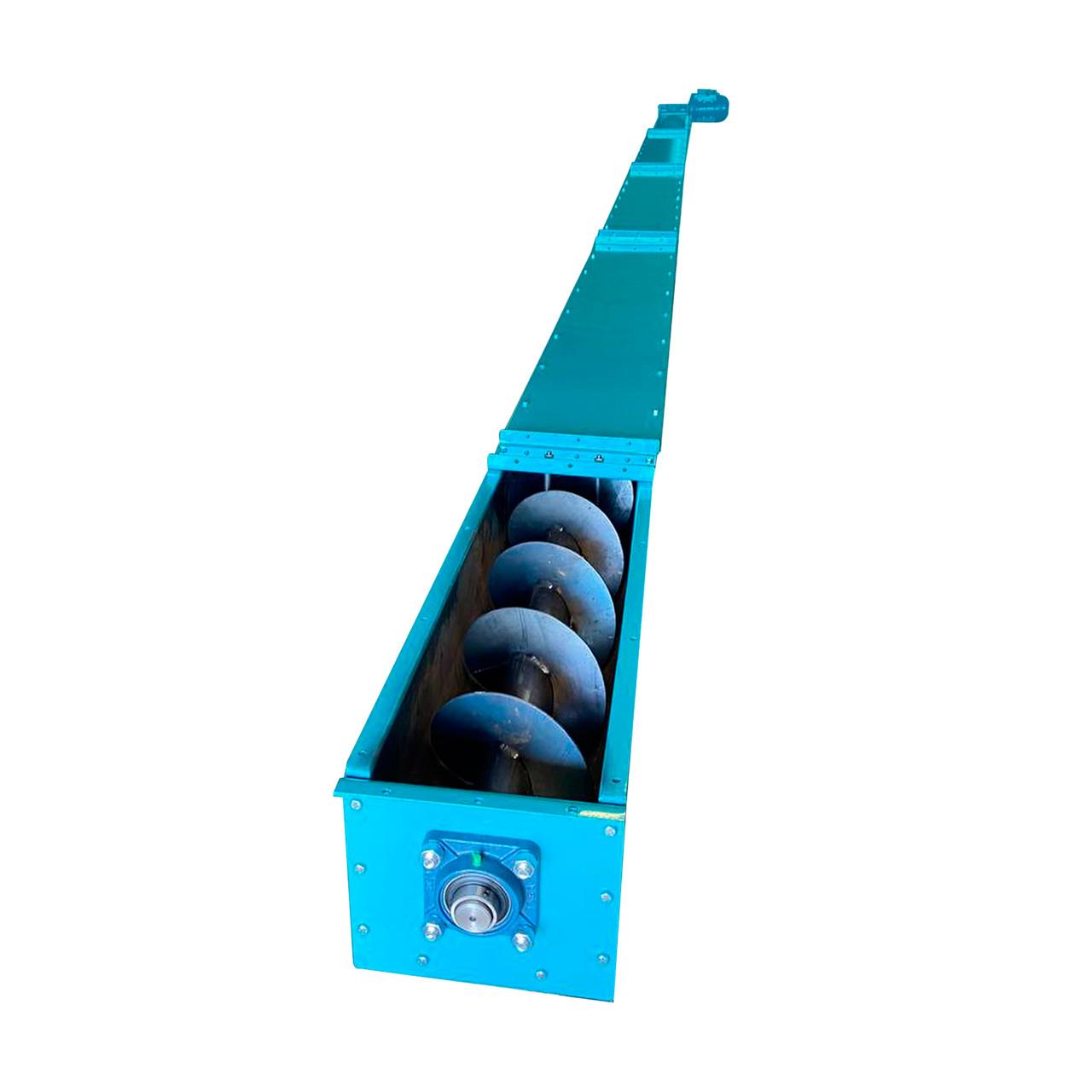 Шнековый (винтовой) конвейер в желобе
