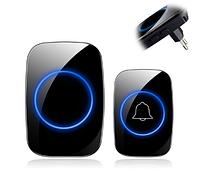 Беспроводной дверной звонок, водонепроницаемый DoorBell, 1 звонок+1 база