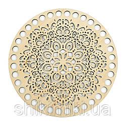 Заготівля з фанери ажурна кругла -09 (14 см)