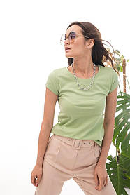 Женская однотонная базовая футболка