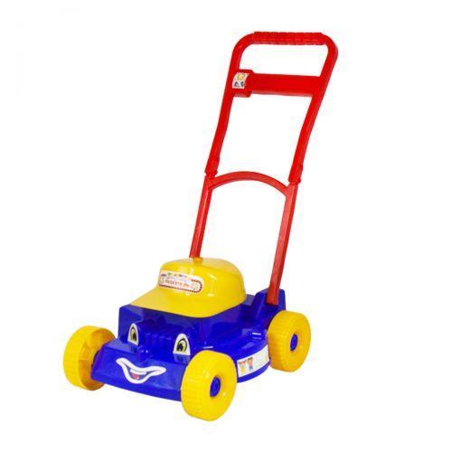 Іграшка каталка для малюків з ручкою, Газонокосарка, (синя) 5137