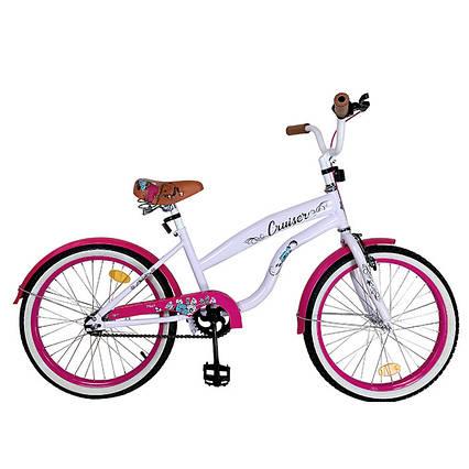 """Велосипед детский CRUISER 20"""" T-22034 pink"""