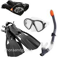 Набор для подводного плавания 55657 с ластами, маской и трубкой, маска для плавания, трубка для ныряния, ласты