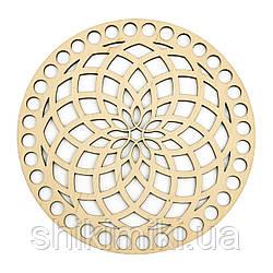 Заготівля з фанери ажурна кругла -29 (14 см)