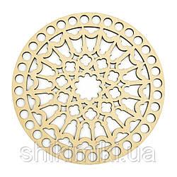 Заготівля з фанери ажурна кругла -33(12 см)