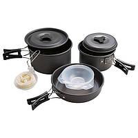 Набір туристичного посуду для пікніка-кемпінга на 3 людини WORLD SPORT Алюміній (DS-300)