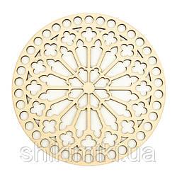 Заготівля з фанери ажурна кругла -37 (10 см)