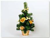 Декоративная елка в горшочке с золотым или красным декором,  30см