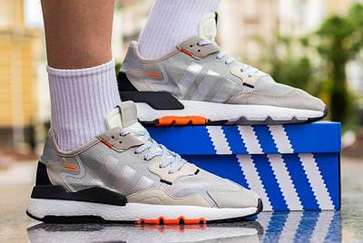 Кроссовки мужские Adidas Nite Jogger 'Grey Orange'