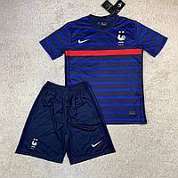 Футбольная форма Cборной Франции ЧМ 2020 домашняя, темно-синяя