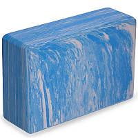 Блок для йоги мультиколор Record FI-5164 (EVA, р-р 23х15х7,5см, синій)