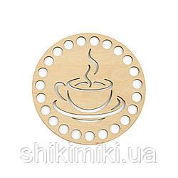 "Донышко из фанеры круглое ""Coffee-1"" (10 см)"