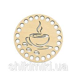 "Заготовка-подставка из фанеры круглая ""Coffee-2"" (10 см)"