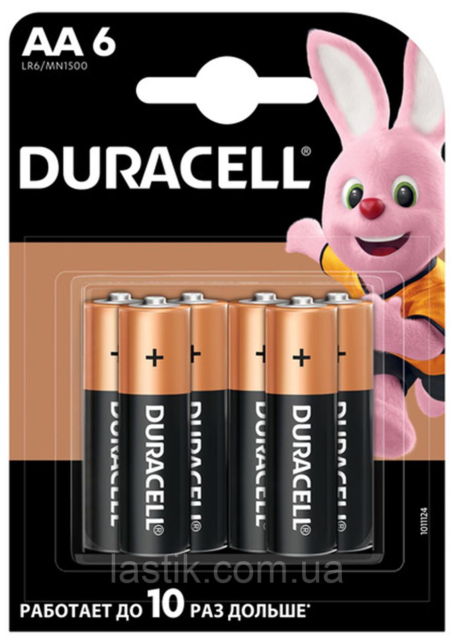 /Элпитания (батарейка) DURACELL LR6 (AA) 6шт/упак