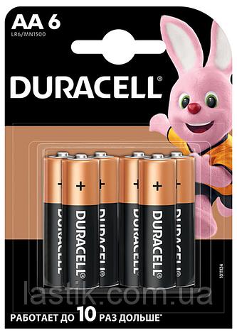 /Элпитания (батарейка) DURACELL LR6 (AA) 6шт/упак, фото 2