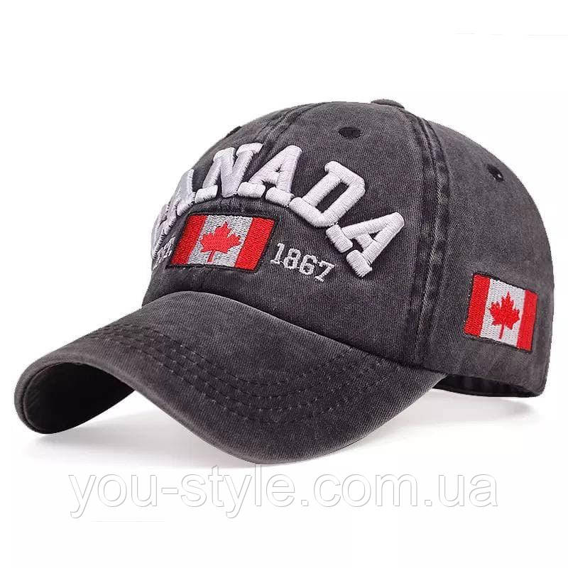 Кепка, Бейсболка CANADA Тёмно-серая 172