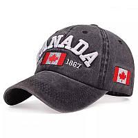 Кепка, Бейсболка CANADA Тёмно-серая 172, фото 1