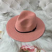 Жіноча літнє капелюх Федора чорна, фото 1