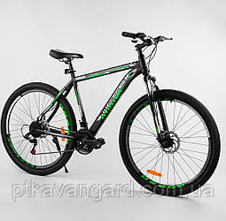 """Спортивный велосипед для взрослых 29 дюймов Зеленый 21 скорость Corso Aviator рама стальная 20"""" собран на 75%"""
