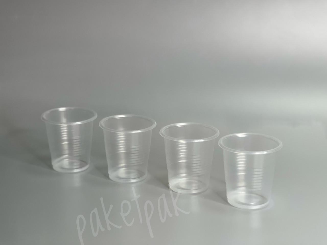 Одноразовая посуда Стакан одноразовый пластиковый прозрачный 80 мл / ящик 5000 шт, одноразовые стаканчики