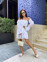 Женское платье летнее лёгкое (белый, чёрный, бежевый) размер 42-46 универсальный