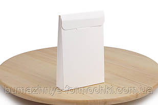 Коробка-саше для батончиків, білого кольору, 100х30х150 мм (50 штук)