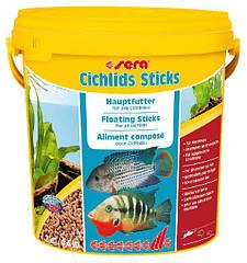 Sera Cichlids Sticks корм для цихлид и других больших рыб в гранулах, 10000 мл