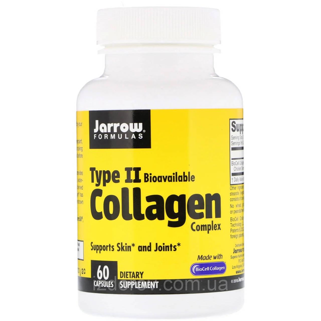 Jarrow Formulas, Комплекс колагенів 2 типу, Type II Collagen Complex, для здоров'я суглобів, 60 капсул