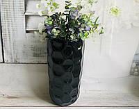 Настольная ваза КерамКлуб Венера в черном цвете h 26 см