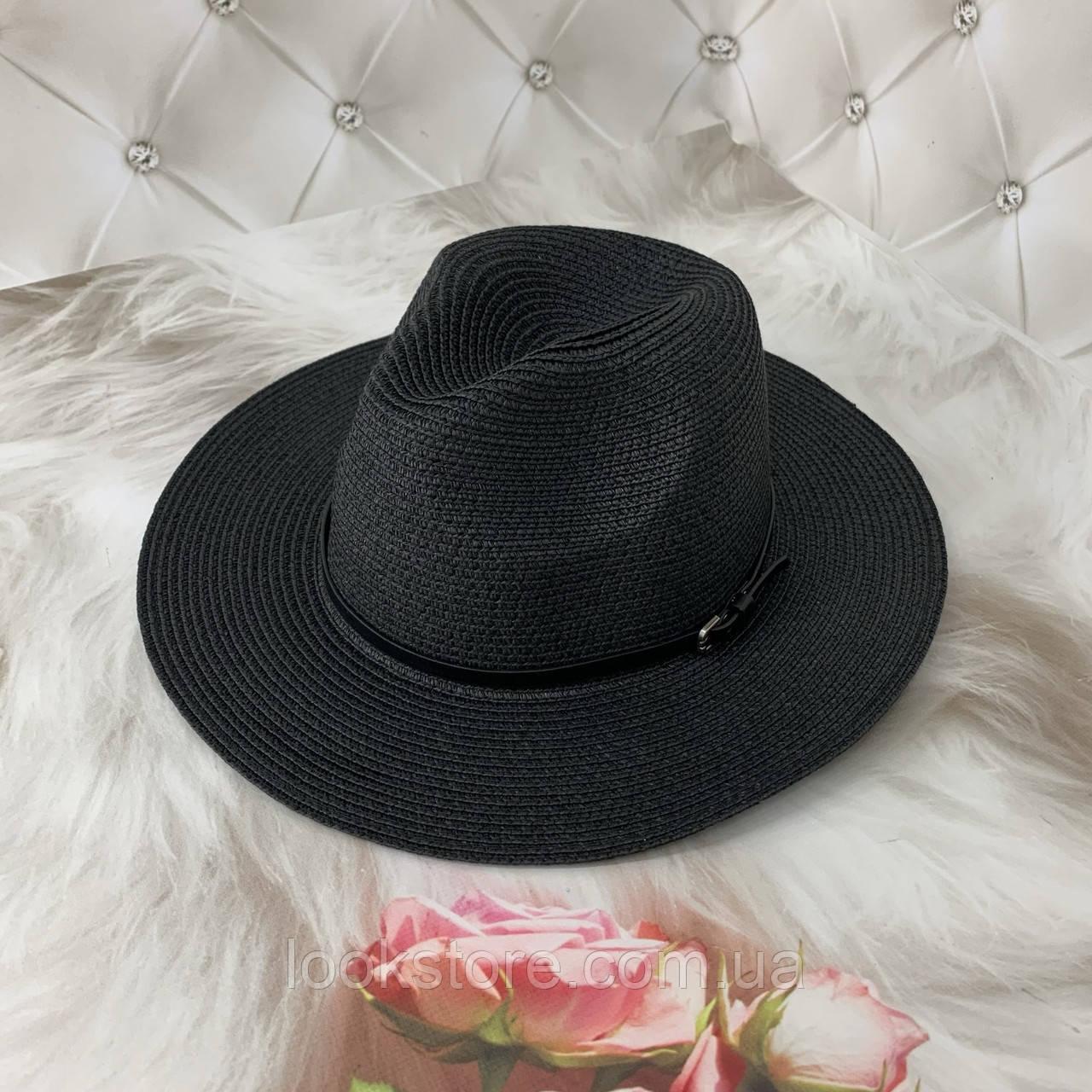 Жіноча літнє капелюх Федора чорна