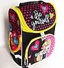 Каркасный рюкзак-короб с ортопедической спинкой для девочки, Девочка с кошкой, фото 2