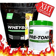 Energy Протеин масс комплект 2 кг Протеина Польша Шоколад + PRE-тоник комплекс