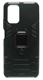 Накладка Xiaomi Redmi Note10 black Magnetic Armor Ring Honor