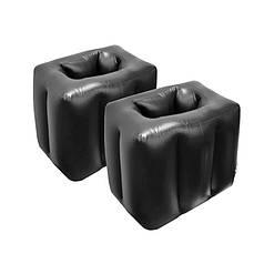 Комплект надувних подушок Lesko SUV-X1 Black для ніг 45*38*35 див. ( 2шт.)