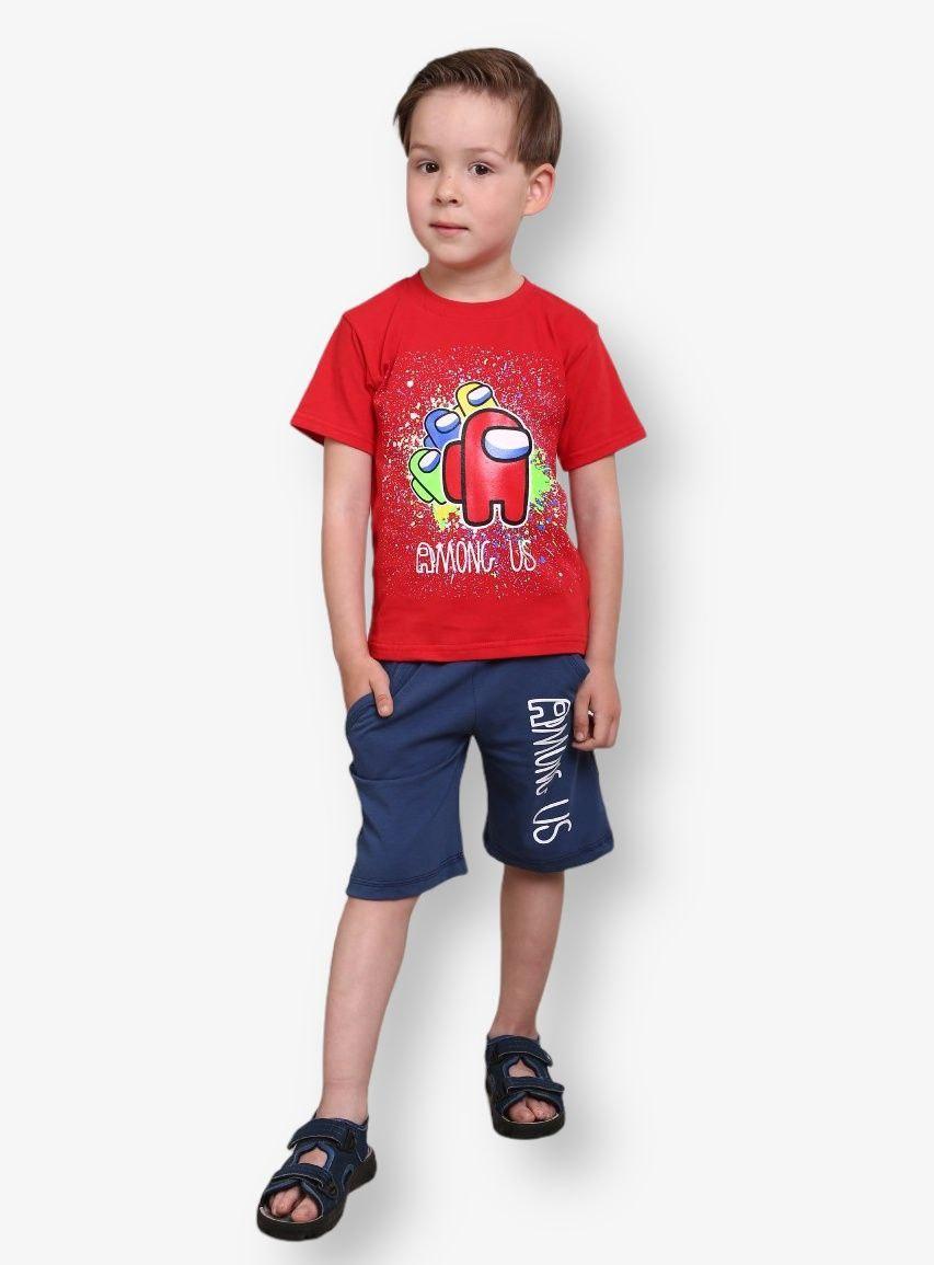 Детский комплект с принтом Among Us для мальчиков стрейч-кулир