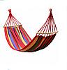 Гамак підвісний Мексиканський 200 x 80 см Тканинний Підвісний з Чохлом і поперечною планкою
