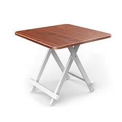 Стол складной Lesko CZ-01 Brown туристический для сада пикника 80*80*76 см
