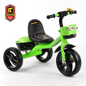 Велосипед трехколесный детский (колеса EVA, свет, звук) Best Trike 19593 Зелёный
