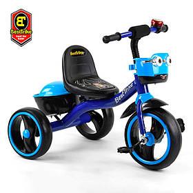 Велосипед трехколесный детский (колеса EVA, свет, звук) Best Trike 32102 Синий