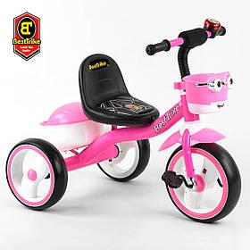 Велосипед трехколесный детский (колеса EVA, свет, звук) Best Trike 94881 Розовый